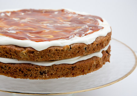 Recipe for Coriander Caramel Apple Cake from TableFare