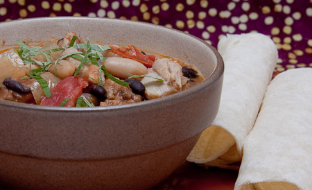 Recipe for Chicken & White Bean Chili with Fresh Basil from TableFare