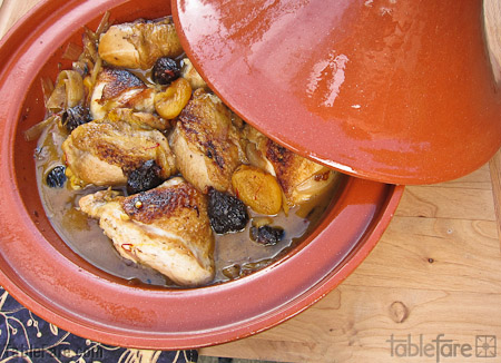 Recipe for Chicken Tagine with Apricots & Figs from TableFare