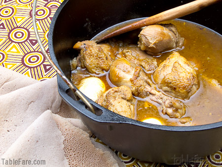 Recipe for Chicken Stew (Doro Wett) from TableFare