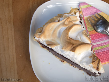 Recipe for Chocolate Cream Pie with Meringue from TableFare