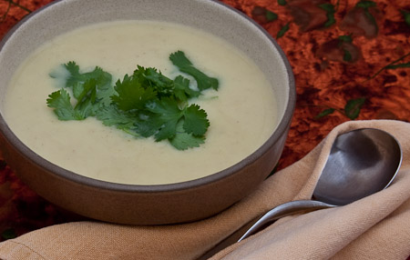 Recipe for Coriander Potato Soup from TableFare