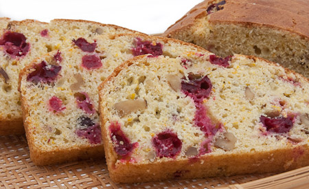 Recipe for Cornmeal-Oatmeal Cranberry-Orange Loaf from TableFare