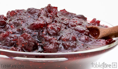 Recipe for Spiced Cranberry Sauce from TableFare