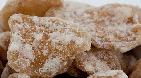 Recipe for Spiced Crystallized Ginger from TableFare