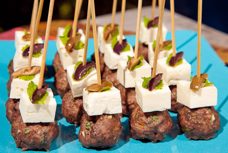 Recipe for Lamb Meatballs Skewers with Feta & Mint from TableFare
