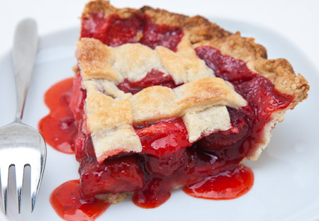 Recipe for Strawberry Rhubarb Pie from TableFare