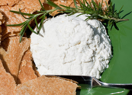 Recipe for Rosemary Garlic Ricotta Cheese from TableFare