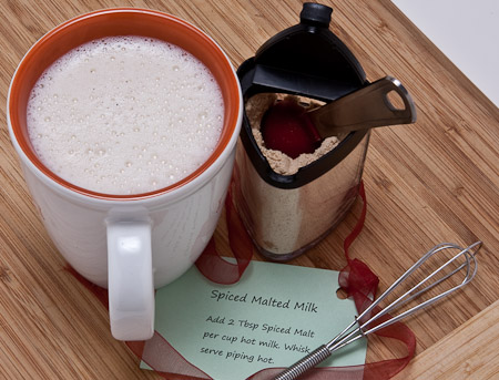 Recipe for Spiced Malted Milk Mix from TableFare