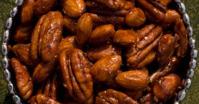 Recipe for Spiced Candied Pecans from TableFare