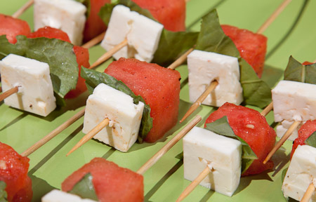 Recipe for Watermelon & Feta Brochettes from TableFare